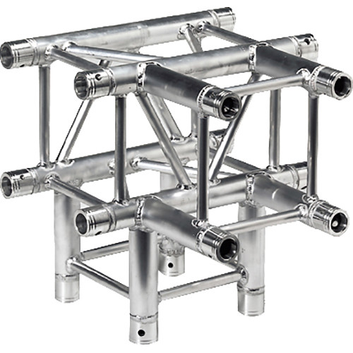Global Truss 1.64' 4-Way T-Junction for F34 Square Truss