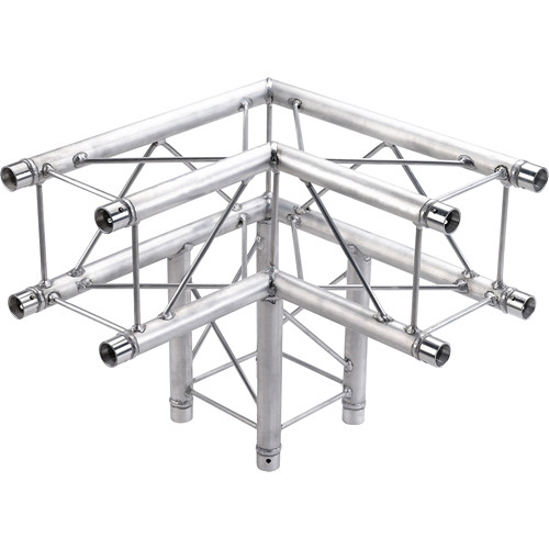 Global Truss 3-Way 90&deg Corner for F24 Square Truss System (1.64')
