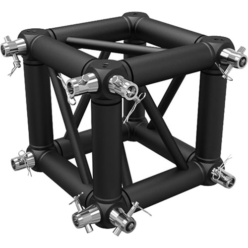 Global Truss Universal Junction Block for F34 Truss with Connecting Hardware for Two Sides (Matte Black)