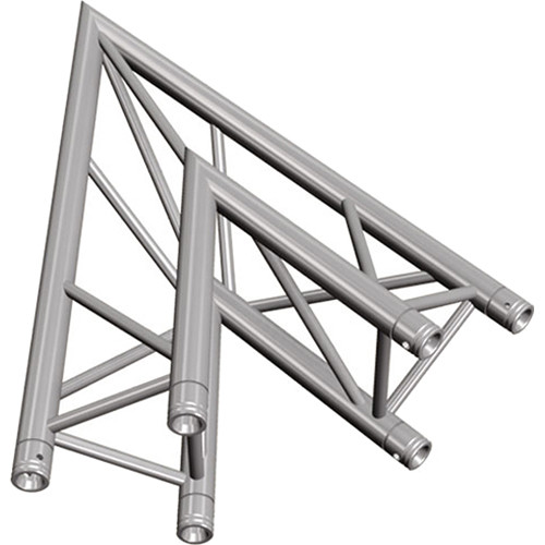 Global Truss Two-Way 45&deg Apex Out Corner for F33 Triangular Truss System (3.28')