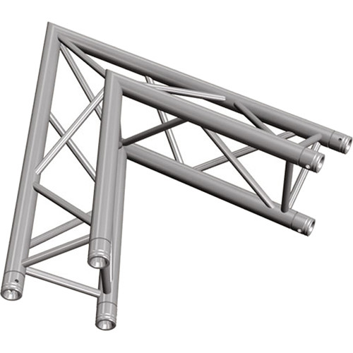 Global Truss Two-Way 60&deg Apex Out Corner for F33 Triangular Truss System (3.28')