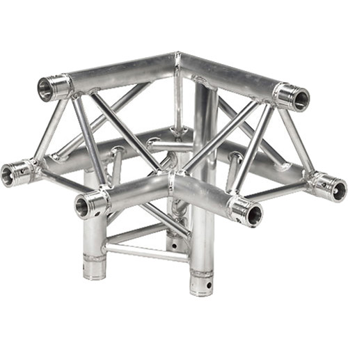 Global Truss Three-Way 90&deg Apex Up - Left Corner for F33 Triangular Truss System (1.64')