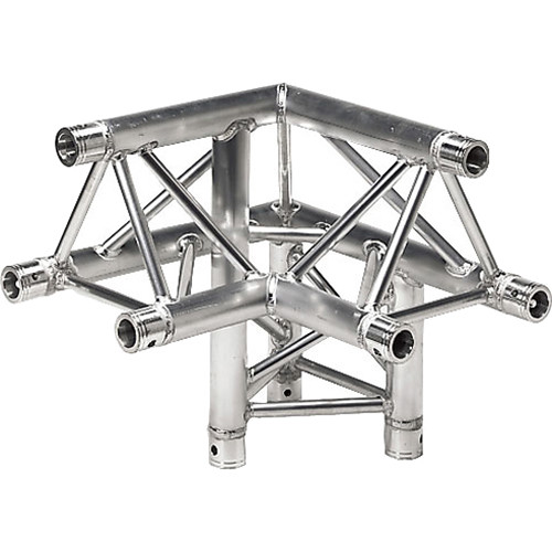 Global Truss Three-Way 90&deg Apex Up - Right Corner for F33 Triangular Truss System (1.64')