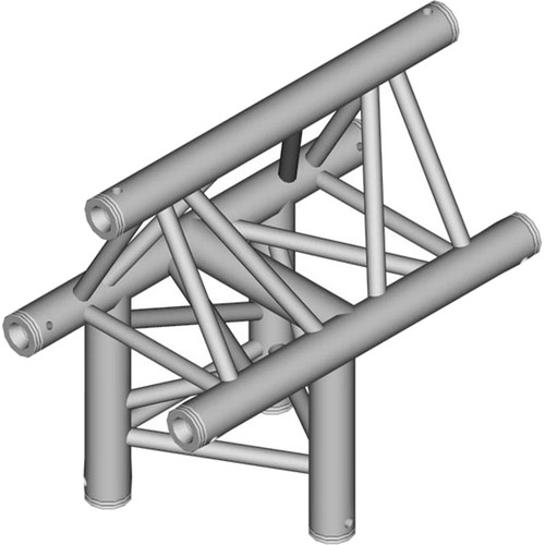 Global Truss 1.64' 3-Way Triangular Horizontal T-Junction Apex Out for F33 Triangle Truss