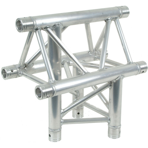 Global Truss 1.64' 3-Way Triangular Vertical T-Junction Apex Up for F33 Triangle Truss