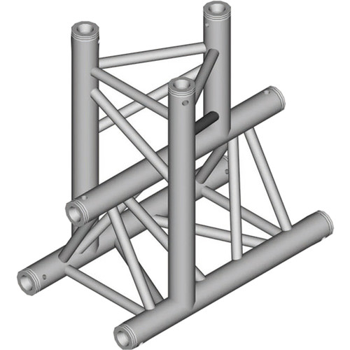 Global Truss 1.64' 3-Way Triangular Vertical T-Junction Apex Down for F33 Triangle Truss