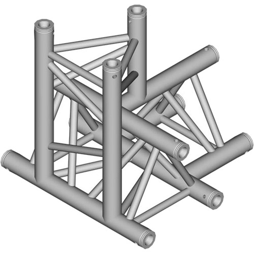 Global Truss 1.64' 4-Way Triangular T-Junction Apex Down for F33 Triangle Truss