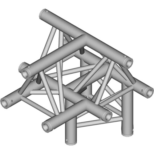 Global Truss 1.64' 4-Way Triangular T-Junction Apex Up for F33 Triangle Truss