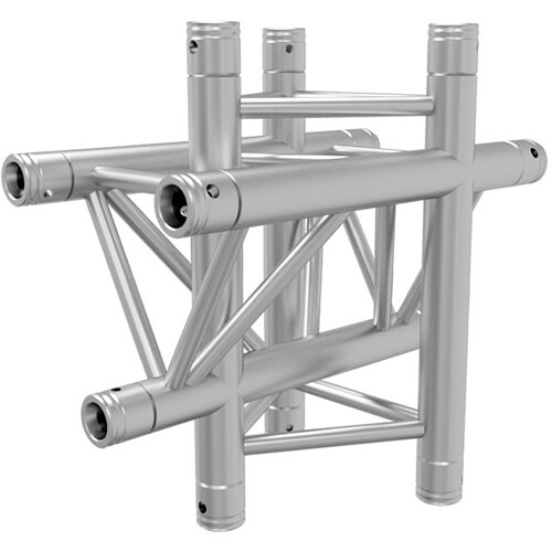 Global Truss 1.64' 4-Way Triangular Vertical Cross-Junction Apex Up/Down for F33 Triangle Truss