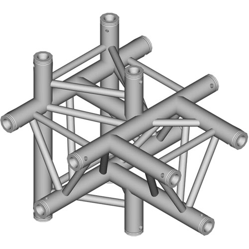 Global Truss 1.64' 5-Way Triangular T-Junction Apex Up/Down for F33 Triangle Truss