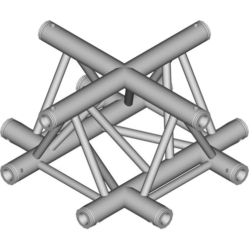 Global Truss 1.64' 4-Way Triangular Cross-Junction Apex Up/Down for F33 Triangle Truss