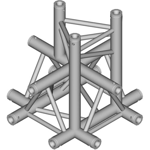 Global Truss 1.64' 5-Way Triangular Cross-Junction Apex Down for F33 Triangle Truss
