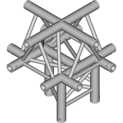 Global Truss 1.64' 5-Way Triangular Cross-Junction Apex Up for F33 Triangle Truss