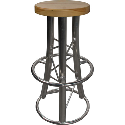 Global Truss Truss Bar Stool with Curved Legs