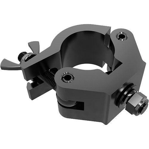 Global Truss Extra Heavy Duty Clamp With Fixed Bolt Black Powder Coat- Max Load 1150Lbs.