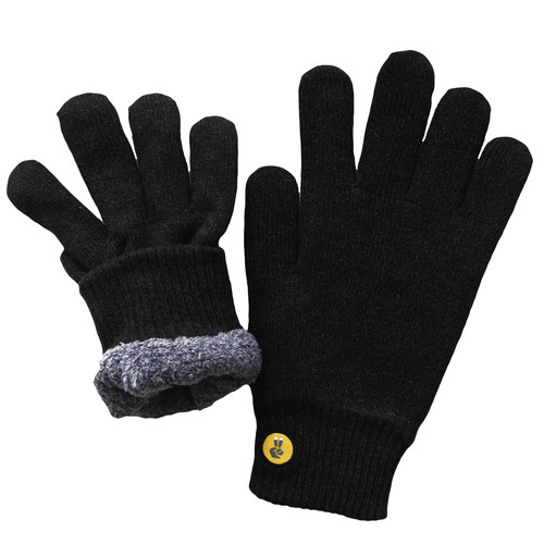 Glove.ly COZY Winter Touchscreen Gloves (Black, Extra Small)