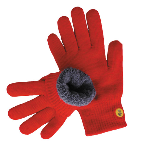 Glove.ly COZY Winter Touchscreen Gloves (Red, Extra Small)