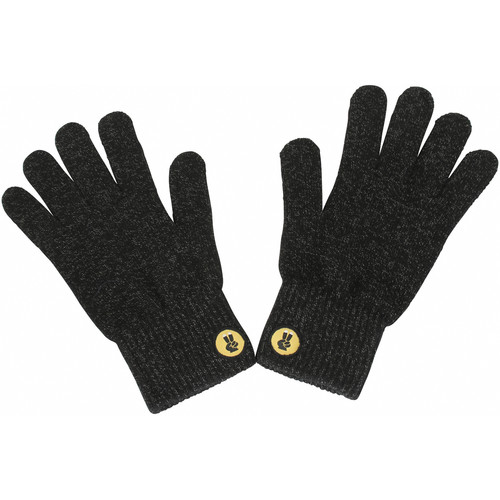 Glove.ly CLASSIC Winter Touchscreen Gloves (Black/Silver, Medium)