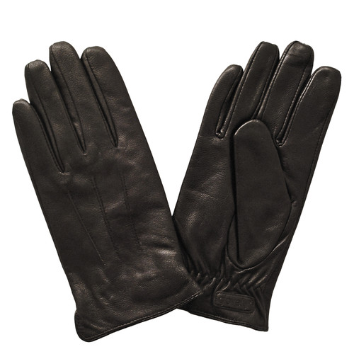 Glove.ly Women's Leather Touchscreen Gloves (Brown, Large)