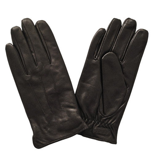 Glove.ly Women's Leather Touchscreen Gloves (Brown, Medium)