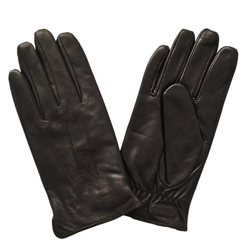 Glove.ly Women's Leather Touchscreen Gloves (Brown, X-Small)