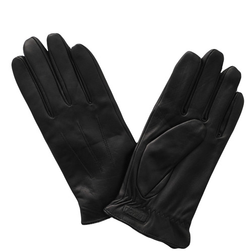 Glove.ly Women's Leather Touchscreen Gloves (Black, Large)