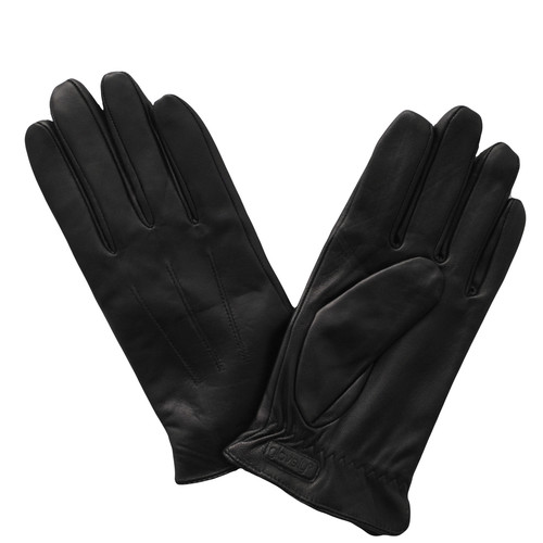 Glove.ly Women's Leather Touchscreen Gloves (Black, Small)