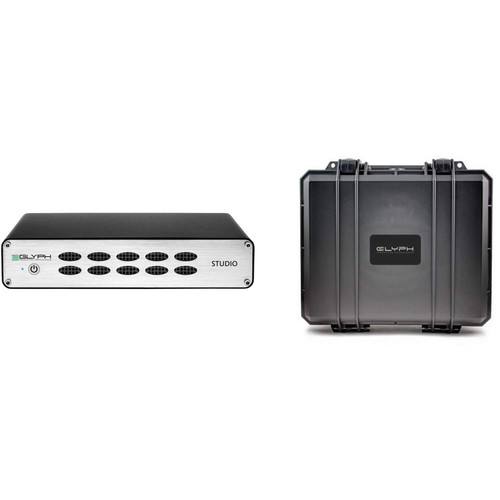 Glyph Technologies 3TB Studio S3000 External Hard Drive Kit with Hardshell Hard Drive Case