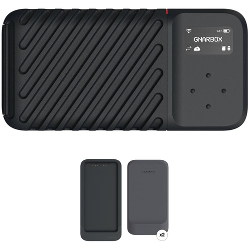 GNARBOX 2.0 SSD 256GB Rugged Backup Device with Dual Battery Charger and Two Batteries