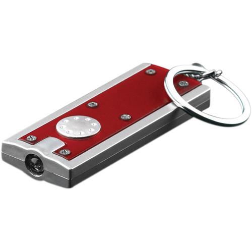 Go Green LED Flashlight Keychain (Red)