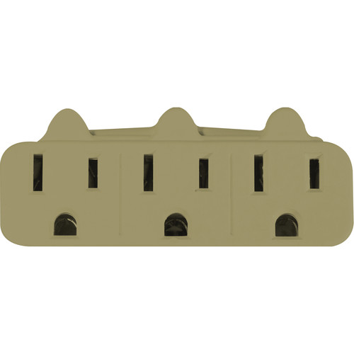 Go Green 3-Outlet Wall Tap Adapter (Tan)
