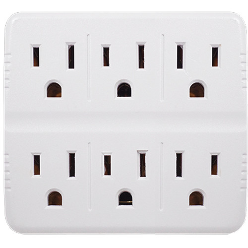 Go Green 6-Outlet Wall Tap Adapter (White)