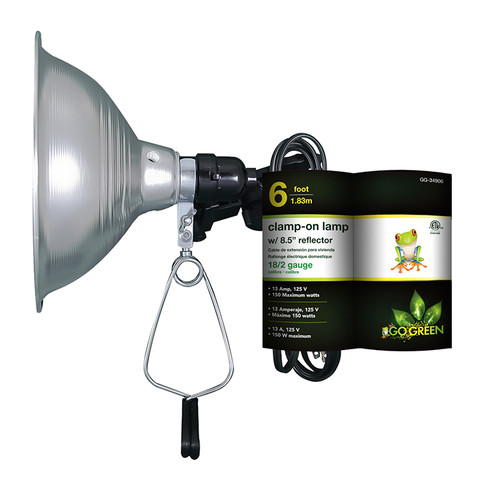 "Go Green Clamp on Lamp with Reflector (8.5"" Shade)"