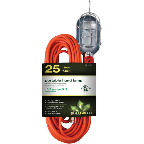 Go Green Portable Hand Lamp (25' Cord)