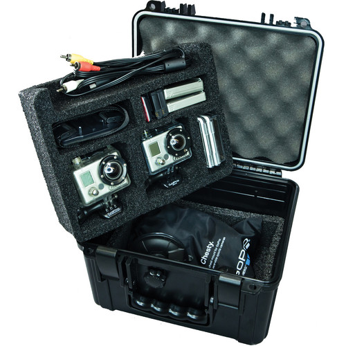 Go Professional Cases XB-552 Case for Two GoPro Cameras with Lower Tray