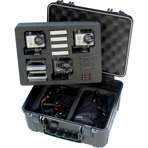 Go Professional Cases XB-653 Case for Three GoPro Cameras with Lower Tray