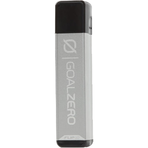 GOAL ZERO Flip 10 Portable Battery with Recharger for Nomad Panel (Silver)