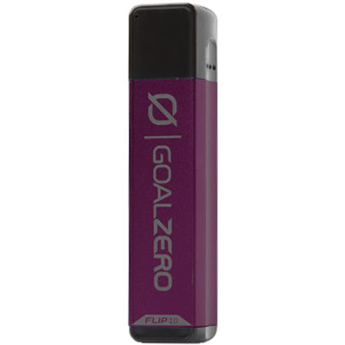 GOAL ZERO Flip 10 Portable Battery with Recharger for Nomad Panel (Plum)