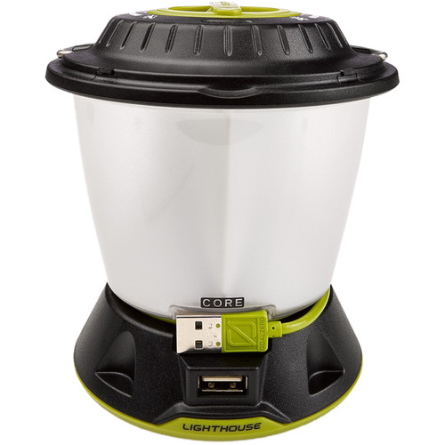 GOAL ZERO Lighthouse Core Lantern & USB Power Hub (Black/White)