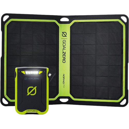 GOAL ZERO Venture 30 Power Pack and Nomad 7 Plus Solar Kit