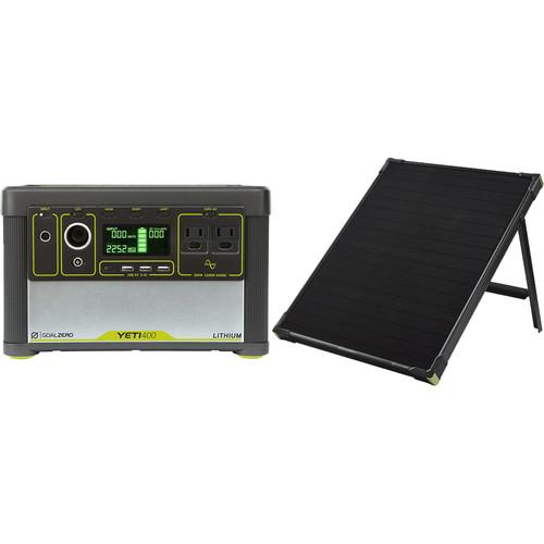 GOAL ZERO Yeti 400 Lithium Power Station with Boulder 50 Solar Panel Kit