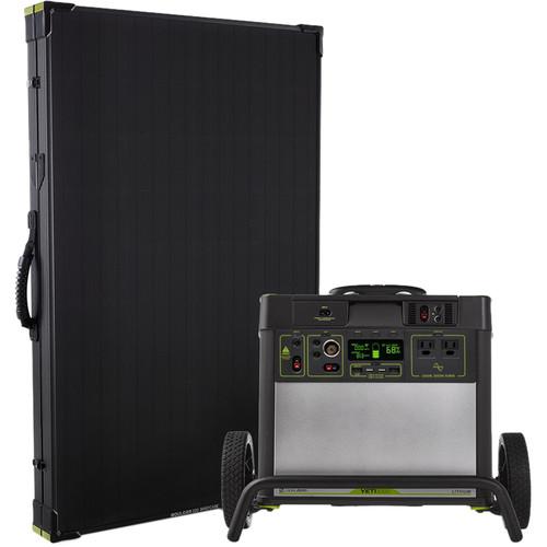 GOAL ZERO Yeti 3000 Lithium Power Station with Wi-Fi and Boulder 200 Briefcase Solar Panel Kit