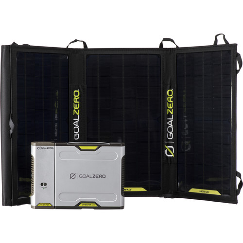 GOAL ZERO Sherpa 100 Solar Charging Kit with 110VAC Inverter