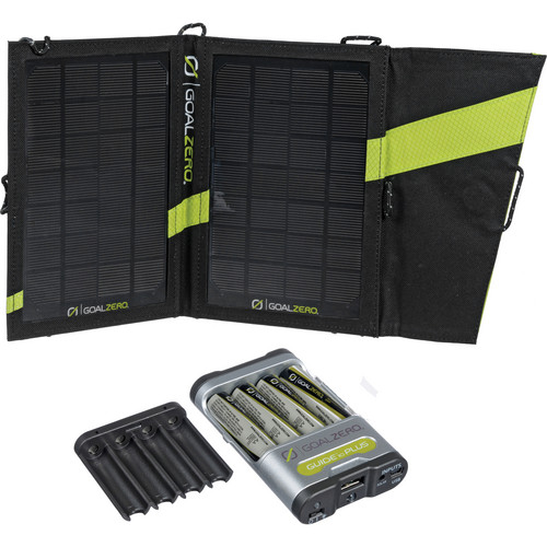 GOAL ZERO Guide 10 Plus Solar Recharging Kit with AA Batteries