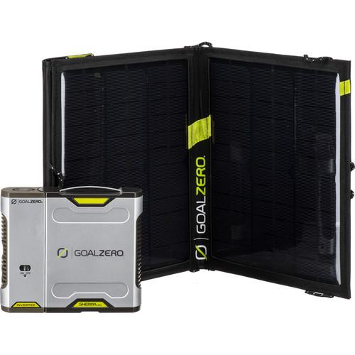 GOAL ZERO Sherpa 50 Solar Charging Kit with 110VAC Inverter