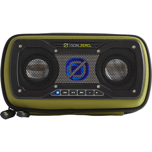 GOAL ZERO Rock Out 2 Solar Rechargeable Portable Speaker (Green)