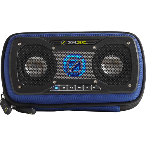 GOAL ZERO Rock Out 2 Solar Rechargeable Portable Speaker (Blue)