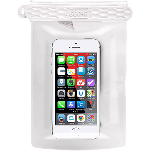 GoBag Dolphin Waterproof Smartphone Bag (White)