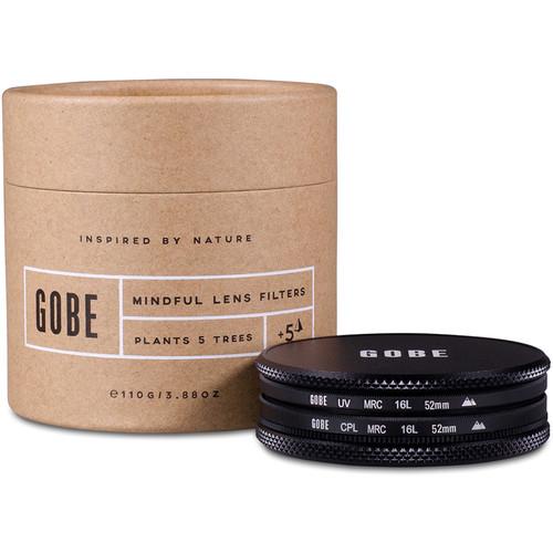 Gobe 52mm The Duet 2Peak UV and Circular Polarizer Filter Kit