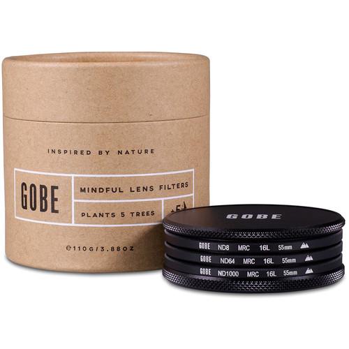 Gobe 55mm ND Stopper 2Peak Solid Neutral Density Filter Kit (3, 6, and 10 Stops)